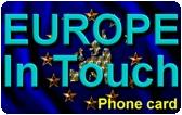Europe In Touch Prepaid Phone Card