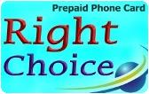 Right Choice Prepaid Phone Card